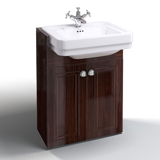 Burlington Classic Semi Recessed Basin With Vanity Unit