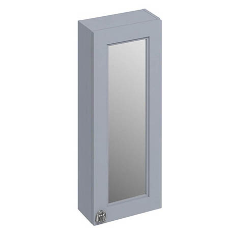 Burlington 30 Single Door Mirror Cabinet - Classic Grey