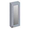 Burlington 30 Single Door Mirror Cabinet - Classic Grey profile small image view 1