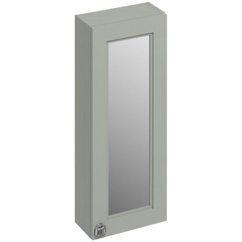 Burlington 30 Single Door Mirror Cabinet - Dark Olive Large Image