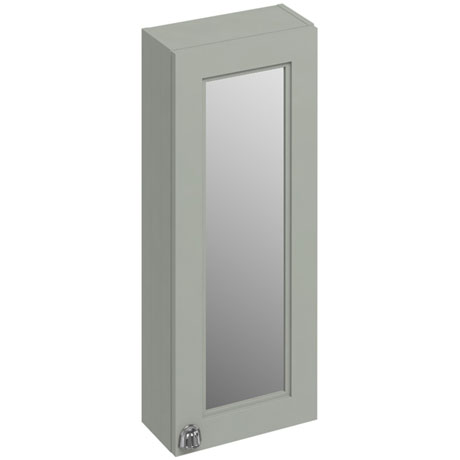 Burlington 30 Single Door Mirror Cabinet - Dark Olive