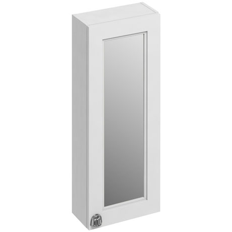 Burlington 30 Single Door Mirror Cabinet - Matt White