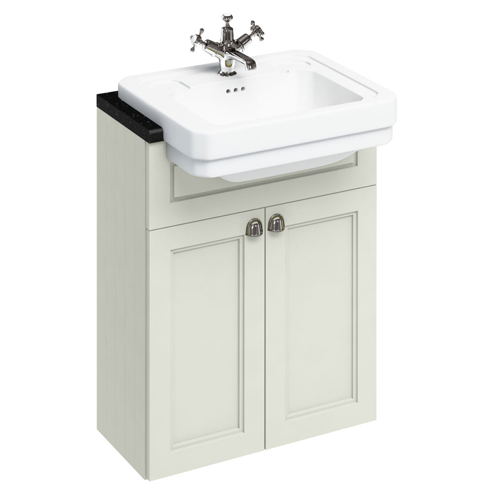 Burlington 60 2-Door Vanity Unit & Classic Semi-Recessed Basin - Sand Large Image