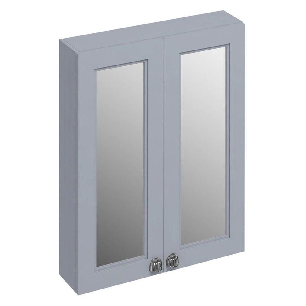 Burlington 60 2-Door Mirror Cabinet - Classic Grey