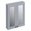Burlington 60 2-Door Mirror Cabinet - Classic Grey profile small image view 1