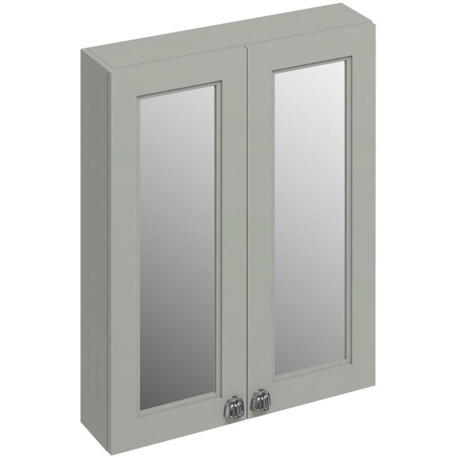 Burlington 60 2-Door Mirror Cabinet - Dark Olive Large Image