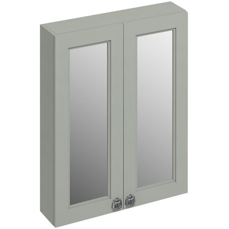Burlington 60 2-Door Mirror Cabinet - Dark Olive
