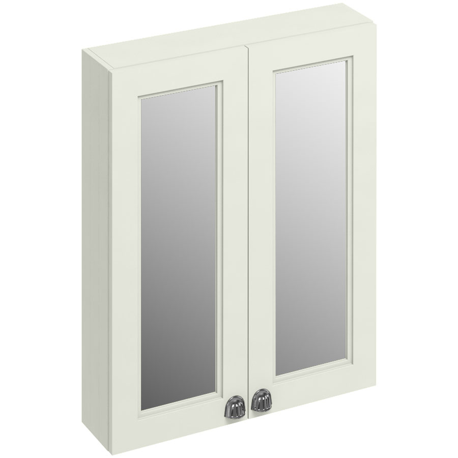 Burlington 60 2-Door Mirror Cabinet - Sand Large Image