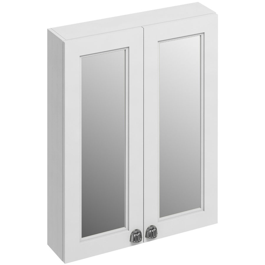 Burlington 60 2-Door Mirror Cabinet - Matt White
