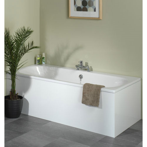 Tavistock Meridian MDF 1700 Plain Front Bath Panel - Gloss White - F782 Profile Large Image