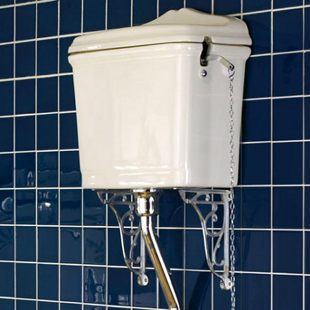 Ultra Ornate Cistern Brackets - Chrome - FA322 Profile Large Image