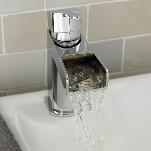Ultra Falls Open Spout Mono Basin Mixer without Waste - FAL315 Profile Large Image