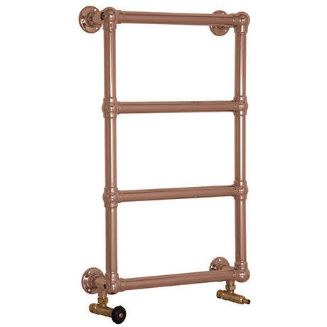 Farnham Traditional 770 x 500mm Steel Towel Rail - Copper