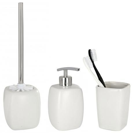 Wenko Faro Ceramic Bathroom Accessories Set - White