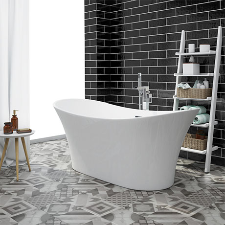 Nova 1750 Modern Double Ended Slipper Bath