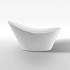 Nova 1570 Modern Small Free Standing Slipper Bath profile small image view 1