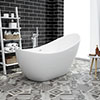 Nova 1750 Modern Free Standing Slipper Bath profile small image view 1