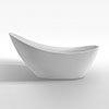 Nova 1750 Modern Free Standing Slipper Bath profile small image view 1