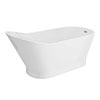 Turin 1700 x 750mm Modern Slipper Freestanding Bath profile small image view 1
