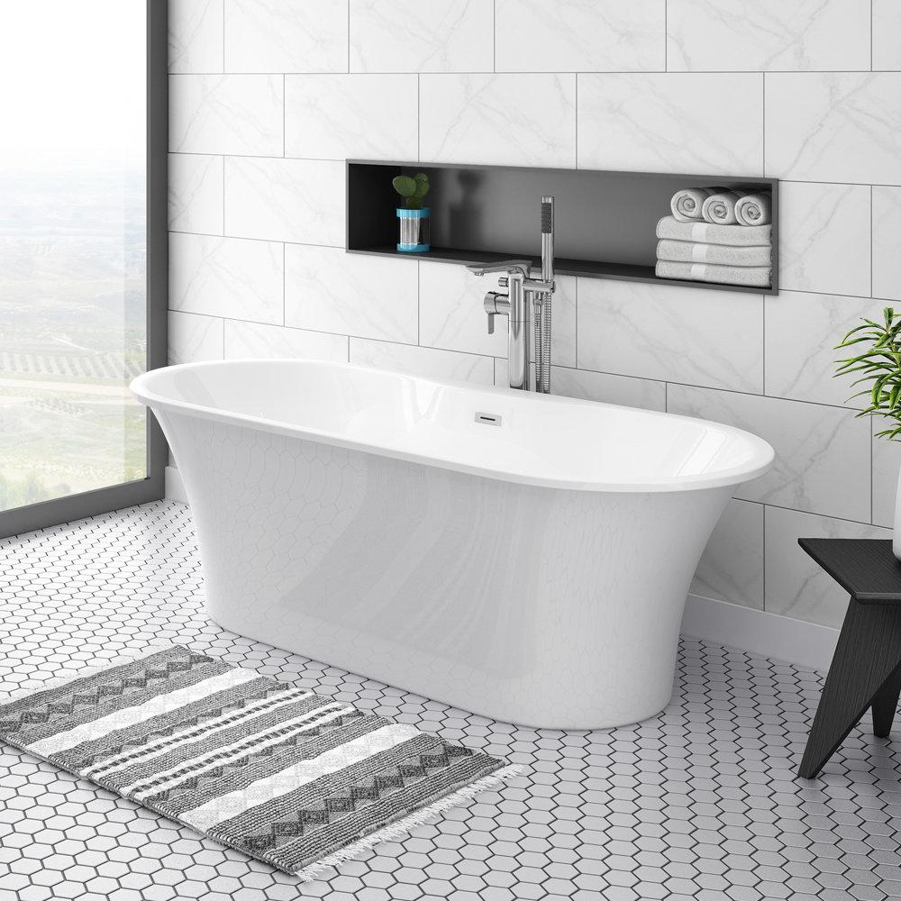 Alps 1660 x 735 Modern Roll Top Bath