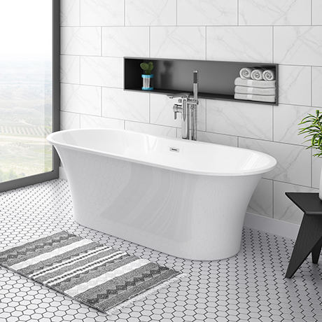 Alps 1660 x 735 Modern Roll Top Bath