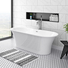 Alps 1660 x 735 Modern Roll Top Bath profile small image view 1