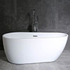 Turin 1600 x 800mm Modern Freestanding Bath profile small image view 1