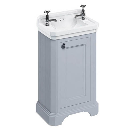 Burlington Freestanding Cloakroom Vanity Unit & Basin - Classic Grey