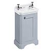 Burlington Freestanding Cloakroom Vanity Unit & Basin - Classic Grey profile small image view 1