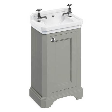 Burlington Freestanding Cloakroom Vanity Unit & Basin - Dark Olive
