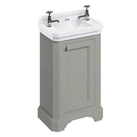 Burlington Freestanding Cloakroom Vanity Unit & Basin - Dark Olive