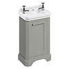 Burlington Freestanding Cloakroom Vanity Unit & Basin - Dark Olive profile small image view 1