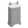 Burlington Freestanding Cloakroom Vanity Unit & Basin - Dark Olive profile small image view 1