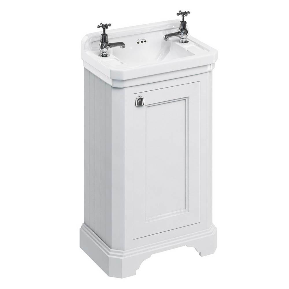 Burlington Freestanding Cloakroom Vanity Unit & Basin - Matt White