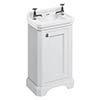 Burlington Freestanding Cloakroom Vanity Unit & Basin - Matt White profile small image view 1
