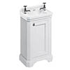 Burlington Freestanding Cloakroom Vanity Unit & Basin - Matt White profile small image view 1