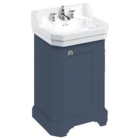 Burlington Edwardian 560mm Basin & Blue Freestanding Rectangular Cloakroom Vanity Unit