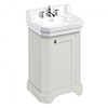 Burlington Edwardian 560mm 3TH Sand Freestanding Cloakroom Vanity Unit & Basin profile small image view 1