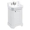 Burlington Edwardian 560mm 3TH Matt White Freestanding Cloakroom Vanity Unit & Basin profile small image view 1