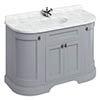 Burlington 134 4-Door Curved Vanity Unit & Minerva Worktop with Basin - Classic Grey profile small image view 1