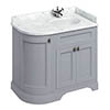 Burlington Floor Standing Corner Vanity Unit - Classic Grey - Right Hand 1000mm with Worktop profile small image view 1