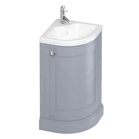 Burlington Freestanding 43cm Corner Vanity Unit & Basin - Classic Grey