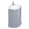 Burlington Freestanding 43cm Corner Vanity Unit & Basin - Classic Grey profile small image view 1