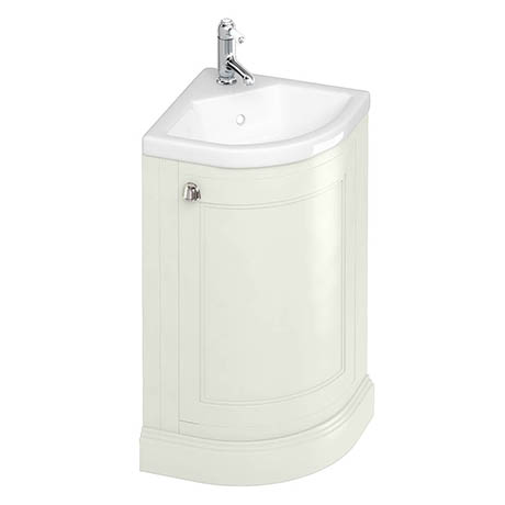 Burlington Freestanding 43cm Corner Vanity Unit & Basin - Sand