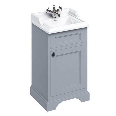 Burlington 50cm Freestanding Cloakroom Vanity Unit & Basin - Classic Grey