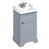 Burlington 50cm Freestanding Cloakroom Vanity Unit & Basin - Classic Grey profile small image view 1