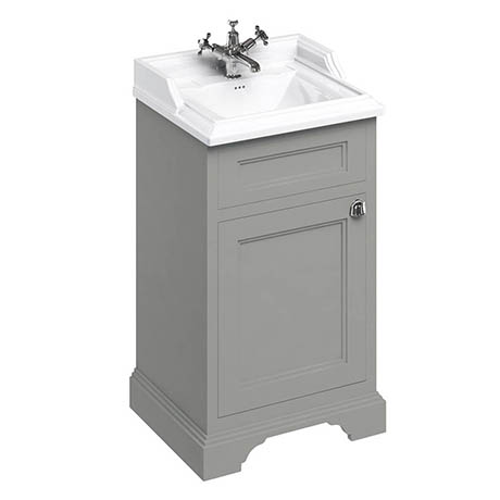 Burlington 500mm Freestanding Cloakroom Vanity Unit & Basin - Dark Olive