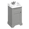 Burlington 50cm Freestanding Cloakroom Vanity Unit & Basin - Dark Olive profile small image view 1