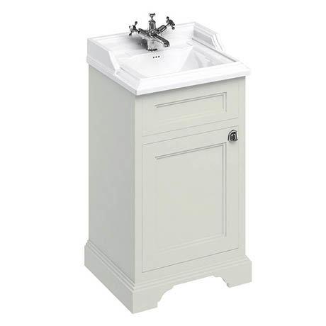Burlington 50cm Freestanding Cloakroom Vanity Unit & Basin - Sand