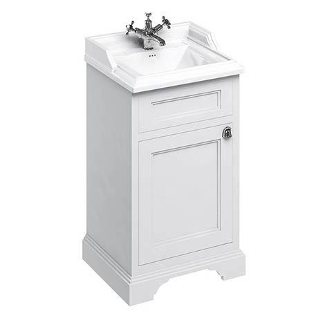 Burlington 500mm Freestanding Cloakroom Vanity Unit & Basin - Matt White